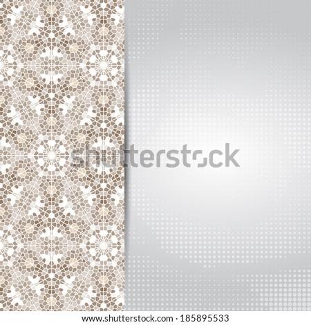 vintage mosaic card or