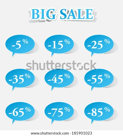 discount price tags big sale
