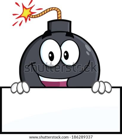 happy bomb cartoon character