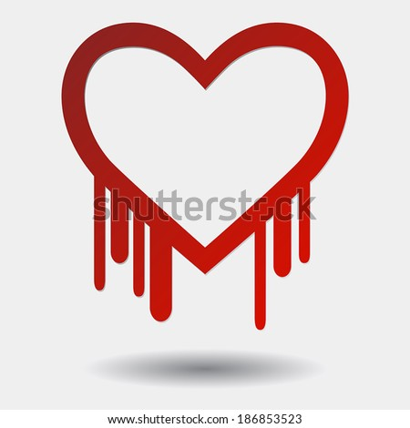 illustration of the heartbleed