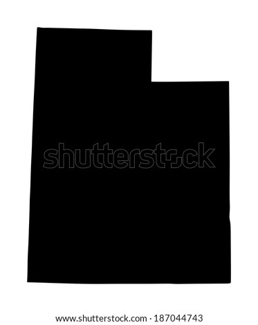 utah vector map isolated on