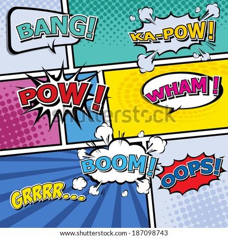comic template vector pop art
