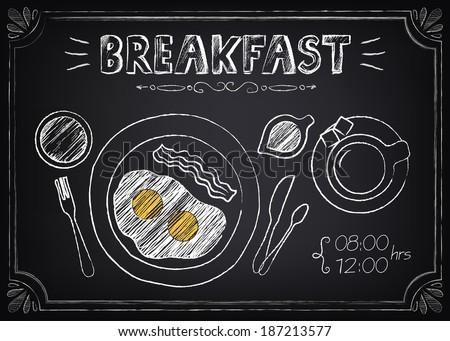 vintage poster   breakfast
