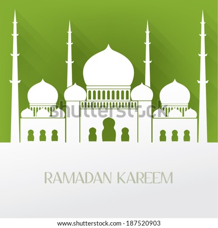 arabic islamic mosque vector