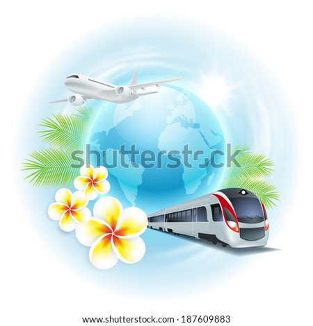 concept travel illustration
