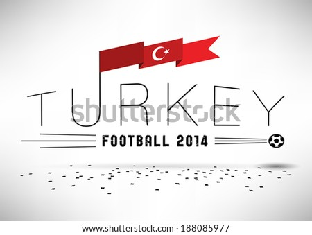 turkey football design with flag