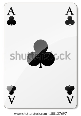 vector illustration of ace of