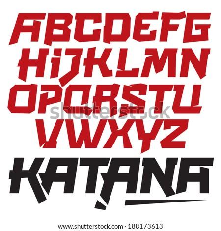 vector font cool modern