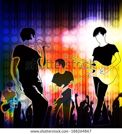 vector illustration of concert