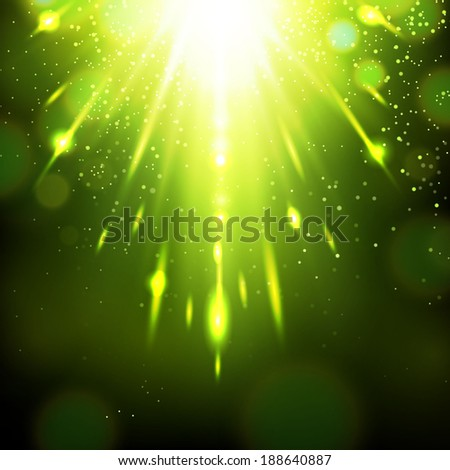 concept green light background