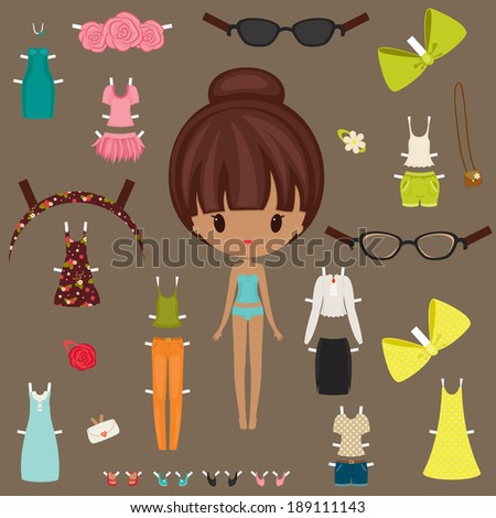 dress up paper doll with body