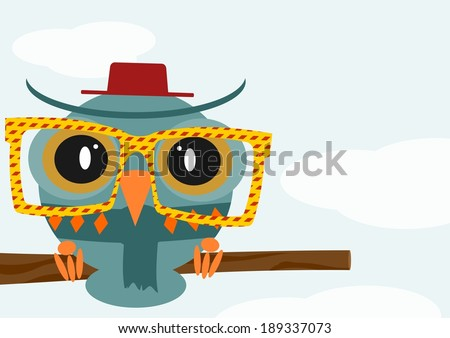 illustration of a colorful owl
