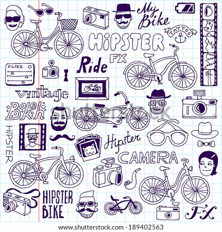 hipsters and bikes set school