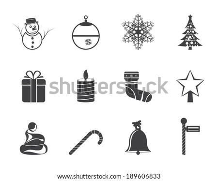 silhouette beautiful christmas