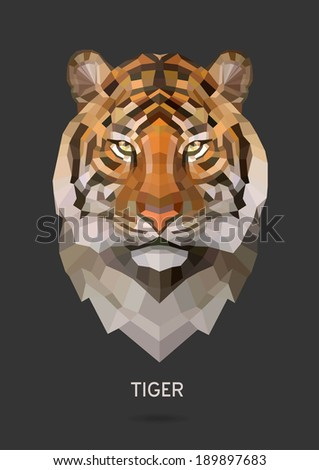 tiger vector polygon