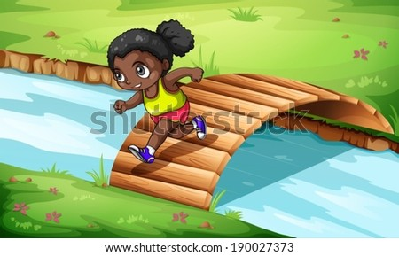 illustration of a black girl