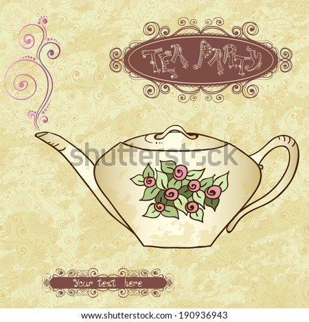 European classic menu template vector free vector 4vector for Tea party menu template