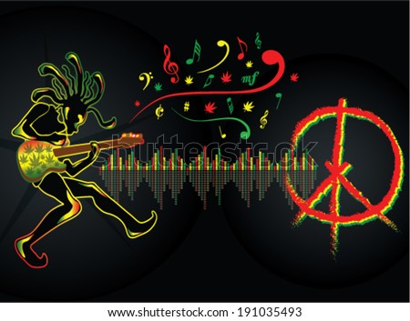 reggae guitarist music peace