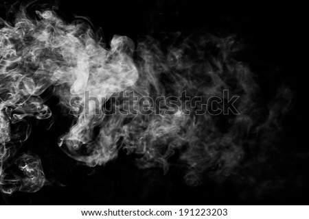 movement of white smoke on