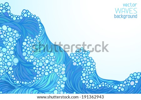 waves vector background there
