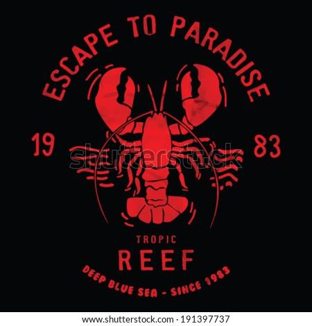 lobster illustration vector