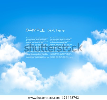 background with blue sky and