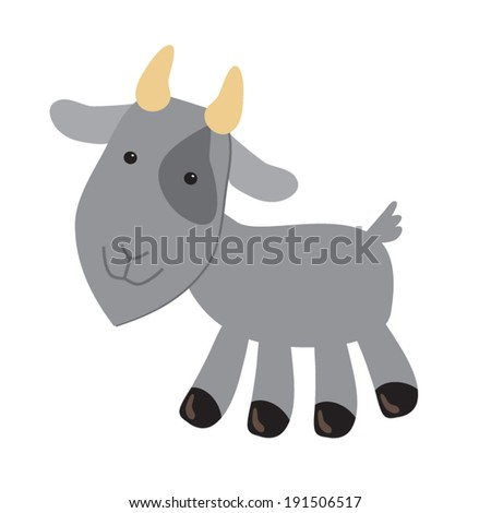 cute goat vector illustration