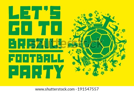 brazil summer life vector art