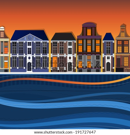 vector illustration of holland