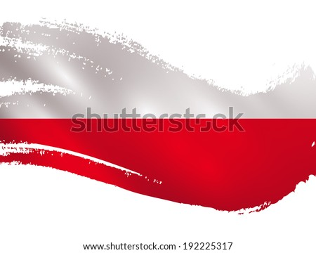 poland flag   paint daubs vector