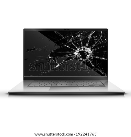 broken screen of a laptop