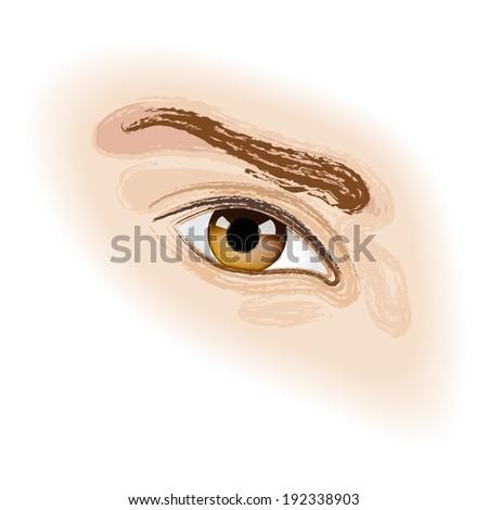 brown human eye close up