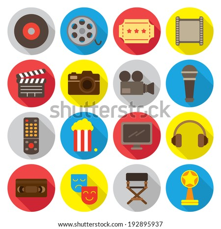 movie related flat icon