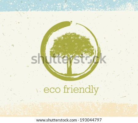 eco friendly tree vector eco