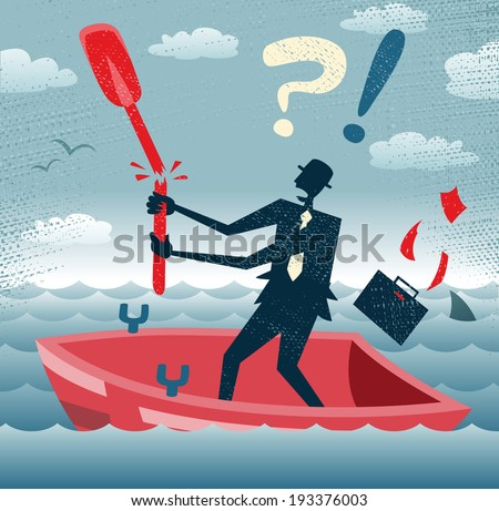 abstract businessman is without