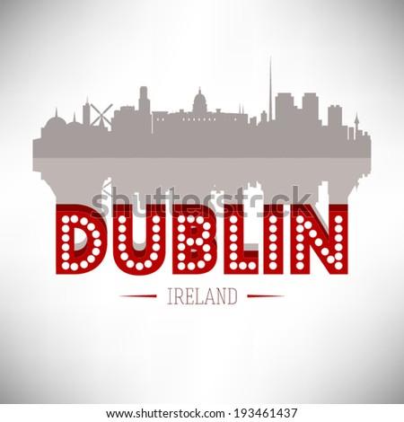 dublin ireland skyline vector