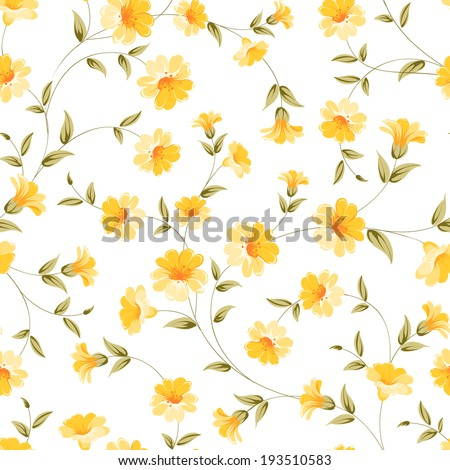 elegant flowers fabric