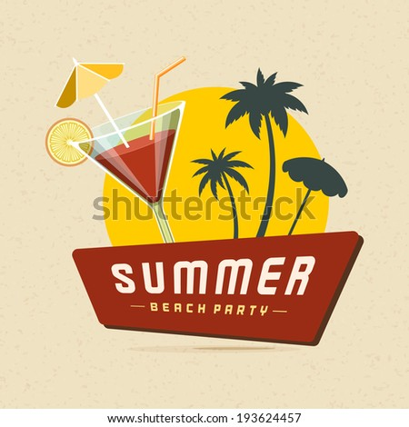 cocktail beach party summer