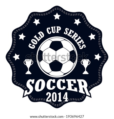 vector soccer badge   vector