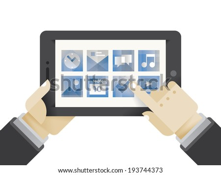 businessman hands holding