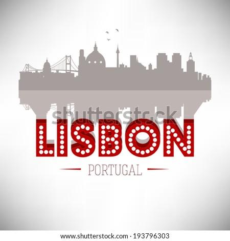 lisbon portugal  skyline design