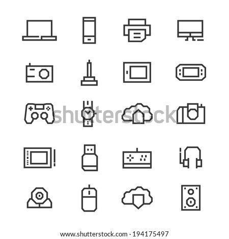 set icons of hardware devices