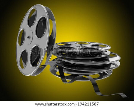 flying and stacked film reel