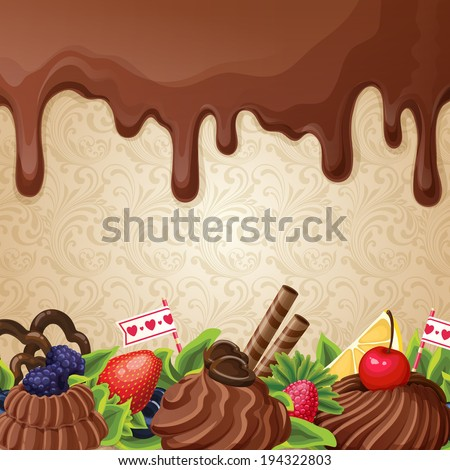 sweets dessert background with