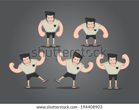 strong man cartoon  animations