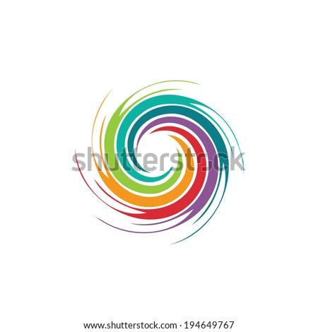 abstract colorful circle swirl