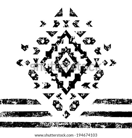 black and white aged geometric