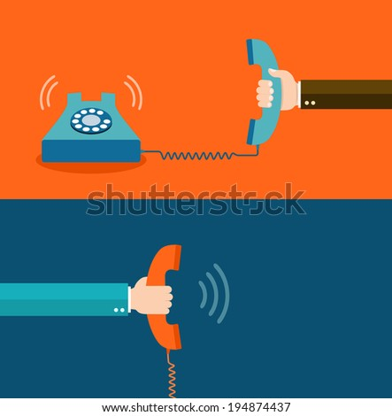 contact us flat illustration