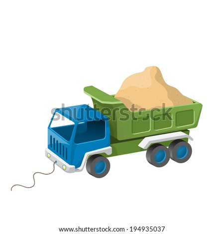 colorful dump truck toy with