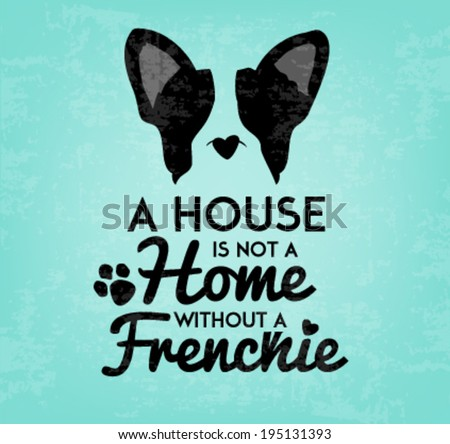 french bulldog typographic